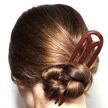 Comb Pins Hair-Stick Hair-Accessories Hairpin-Head-Piece Chinese Women Wood