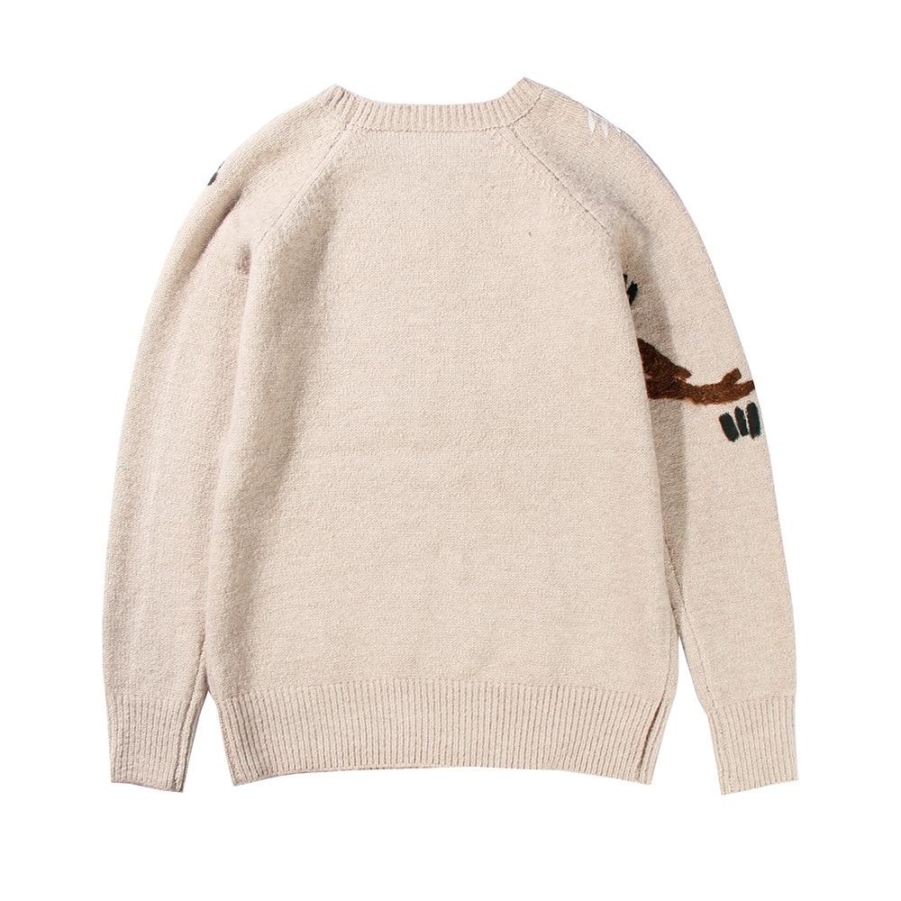 Cakucool Women Runway Design Sweaters Birds Embroidery Jumpers ...