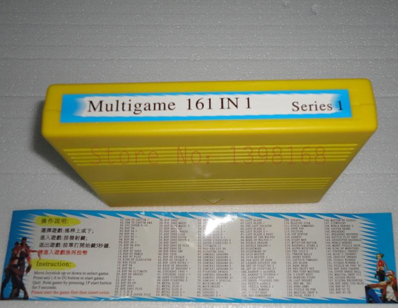 SNK 161 dans 1 NEO GEO Plateau De Jeu D'arcade SNK MVS cartouche/carte pour SNK multigame JAMMA carte mère arcade machine plateau de jeu