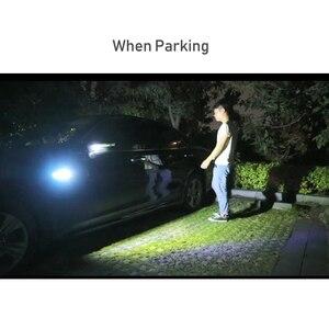 Image 2 - EANOP 자동차 범용 led 라이트 3in1 12V 자동 펜더 램프 러닝 턴 신호 주차 라이트 블루/옐로우/화이트 컬러