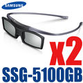 2pcs/lot 3D GLASSES SSG-5100GB 3D Active Bluetooth Glasses For All Samsung 2015- 2011 D, E, ES and F H HU Series 3D TV shipping