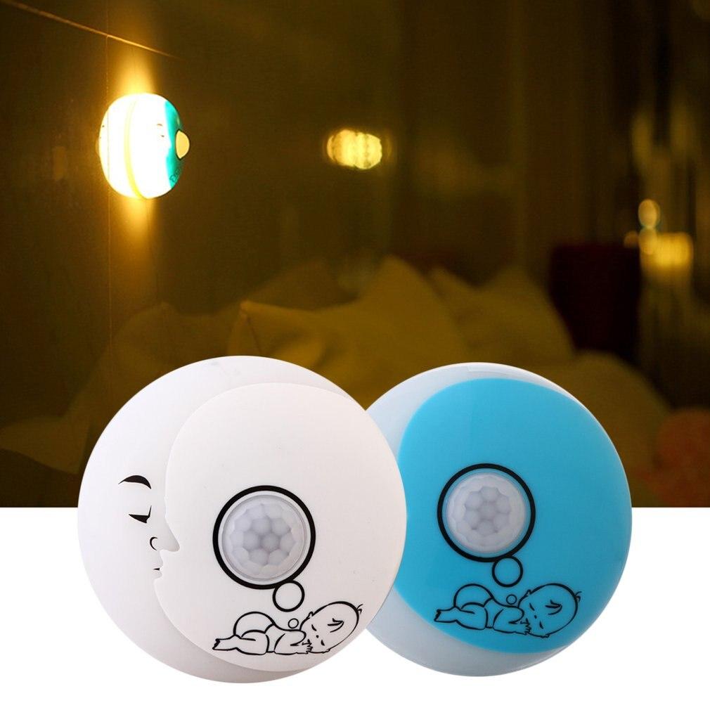 Moon Night Lamp Motion Sensor Night Light Baby Night Light Bedroom Closet Portable Lighting White/Warm White