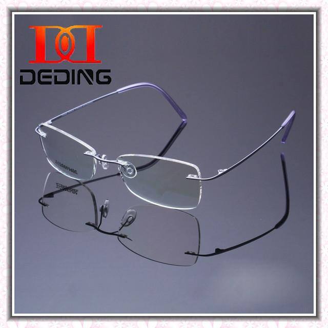 Mulheres mais recente Moda sem aro de titânio óculos de miopia quadro Mulheres Ultima Moda sem aro de Titanio Oculos DD0454