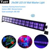 24 LED Disco UV Violet Black Lights DJ 80W Par Lamp UV For Party Christmas Bar Lamp Laser Stage Wall Washer Spot Light Backlight