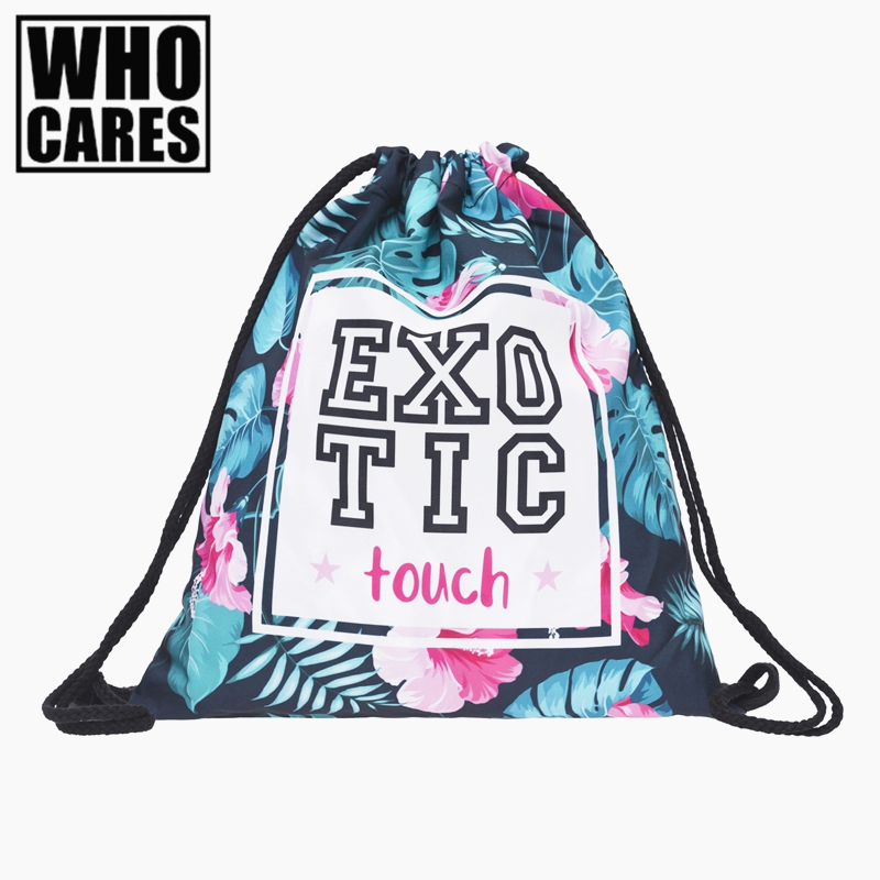exotic touch tropical mini Backpack women 3D printing travel softback men mochila drawstring bag School girl backpacks sac a dos