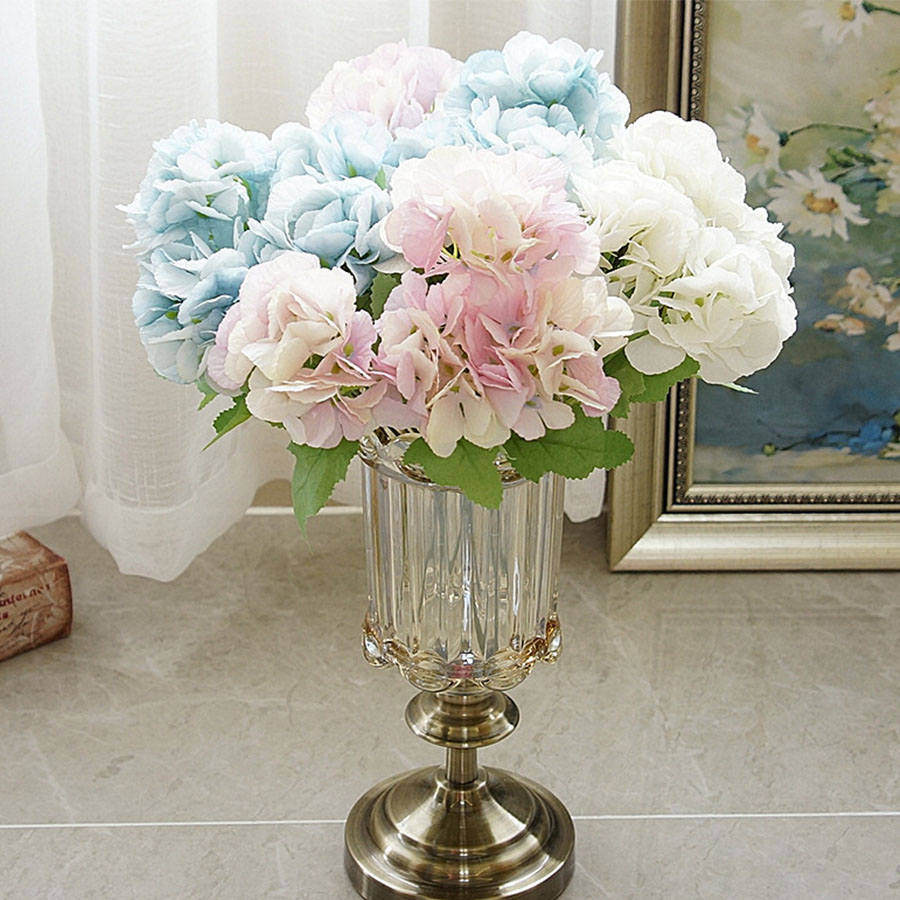 Blue Hydrangea Wedding Flowers: Artificial Flowers Hydrangea Bouquet Bride Hand Wedding
