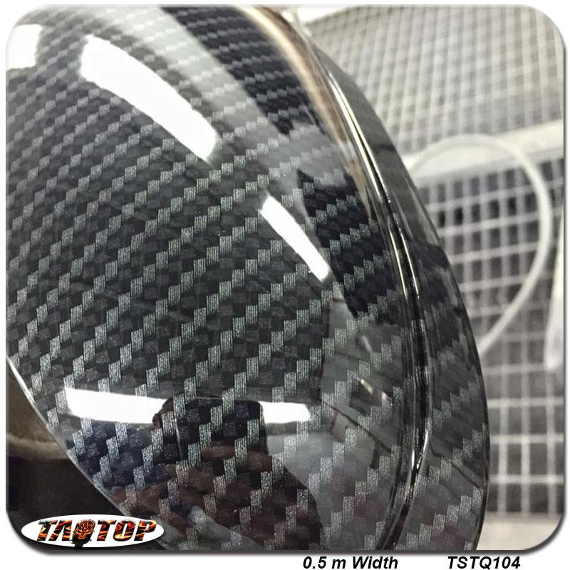 TSTQ104 0.5m *2m Carbon Fiber Grey and Black Popular Pattern PVA Water Transfer Printing Film hydro graphic dipping film