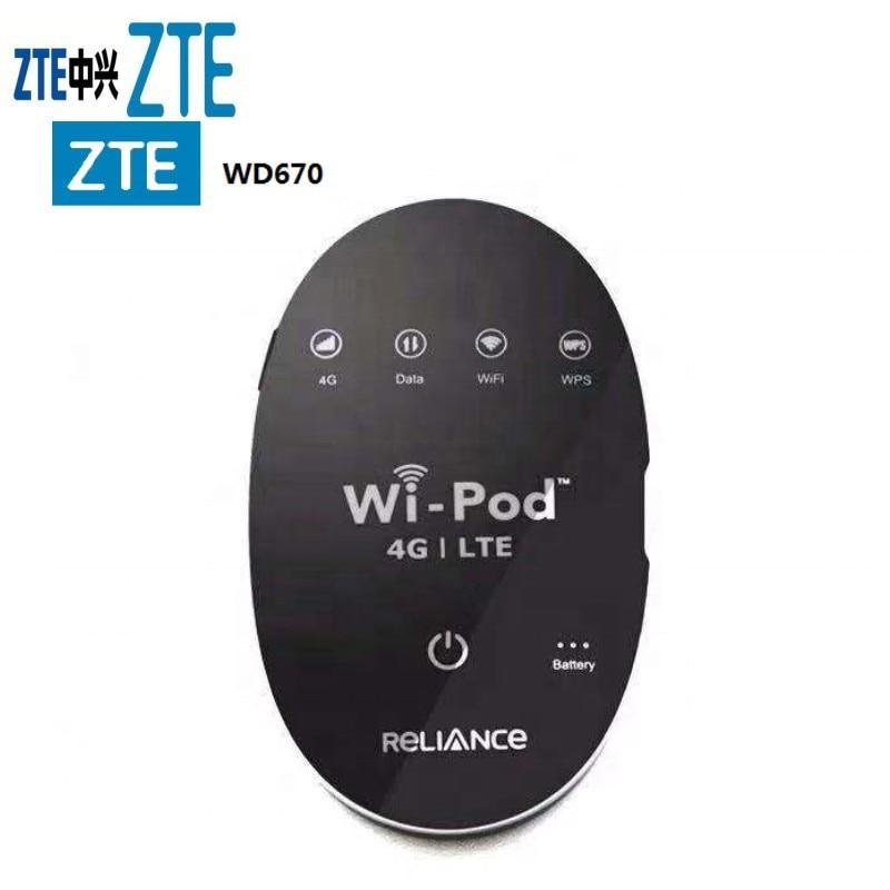 ZTE WD670 4G LTE 150 Mbps WIFI POCKET ROUTER 3G Modem HSDPA Wi-Pod SIM UNLOCKED