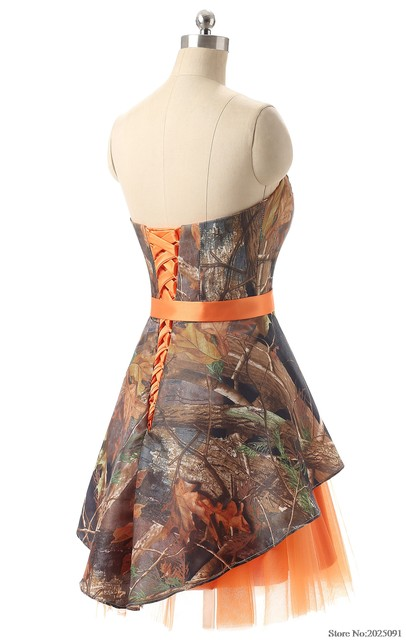 Online Shop Orange Camouflage Bridesmaid Dresses Plus Size Wedding ...