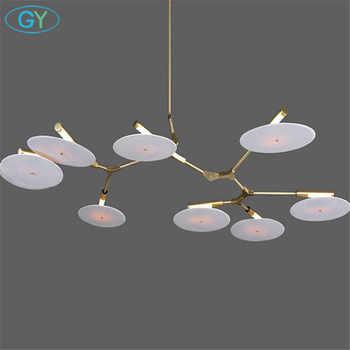 Modern Gold Pendant Chandelier Lights Lustre Acrylic Living Room Led Chandeliers Lighting 3 branch light lampadari 5-light avize - DISCOUNT ITEM  0% OFF All Category