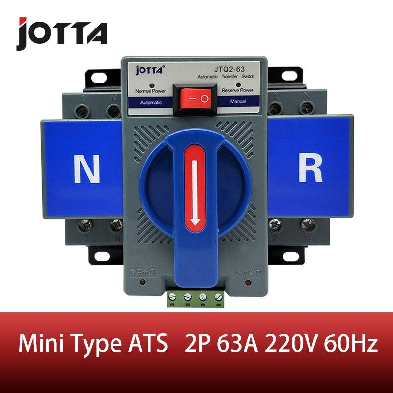 2 p 63a 230 v mcb tipo azul cor dupla potência interruptor de transferência automático ats frequência avaliado 50/60 hz