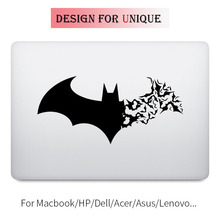 Cracked Batman Symbol Laptop Decal Sticker for Apple Macbook Decal Pro Air Retina 11 12 13 15 inch Vinyl Mac Surface Book Skin