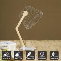 Creative Desk Lamp USB 3D Visual Acrylic Table Lamp LED Night Light Home Decoration As Friends