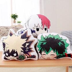 My Hero Academia Anime Boku Yoh Asakura Katsuki Bakugo Shoto Toooroki Dolls Pillow Crush Stuffed Toys Plush Girl Soft Gift