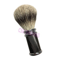 CSB 1005 Natural Badger Hair Knot 20mm Shaving Brush Bright Black Metal Handle Barber Shop Salon Mustache Beard Shave Wet Tool
