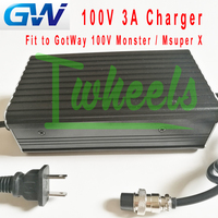 Original GotWay Monster Msuper X 100V 3A charger GotWay unicycle 5 Pin charger