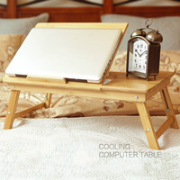 Special Lazy Bamboo And Wood Students Simple Desk Notebook Computer Desk Bed With A Simple Folding