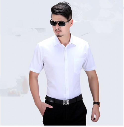 Free shipping Ultralarge short-sleeve shirts plus size clothing men's xxxxxl 6xl 7xl solid color short-sleeve dress shirt white