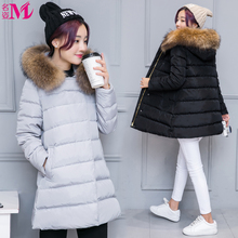 Free transport Plus dimension feminine medium-long down coat 2017 unfastened cloak a  thickening outerwear heat with hooded jacket M-4XL