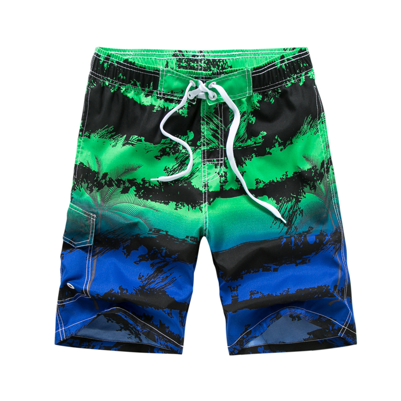 2018 New Fashion Men's Printing Quick Dry Beach   Shorts   Men's Summer   Shorts   Beach   Board     Shorts