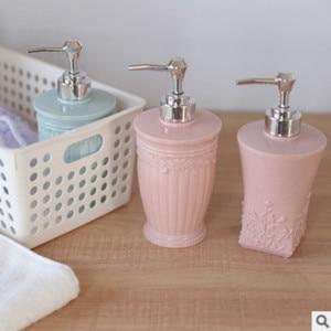 Image 2 - 400ML אירופאי סגנון מגולף מקלחת ג ל מחולק ריק בקבוק יד Sanitizer מפה Dispenser שרף סבון תחליב לחץ בקבוקים