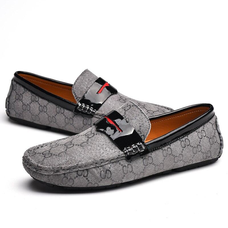 Mens Centavo Loafer Sapatos Casuais Slip-on Condução Sapatos Mocassins Handmade Vintage Itália Casamento Original Masculino D50