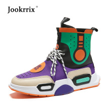 Jookrrix Shoes Men Fashion Brand Sneakers High Top Lady chaussure Autumn Male footware uomo Shoes Pu Leather Breathable Quality