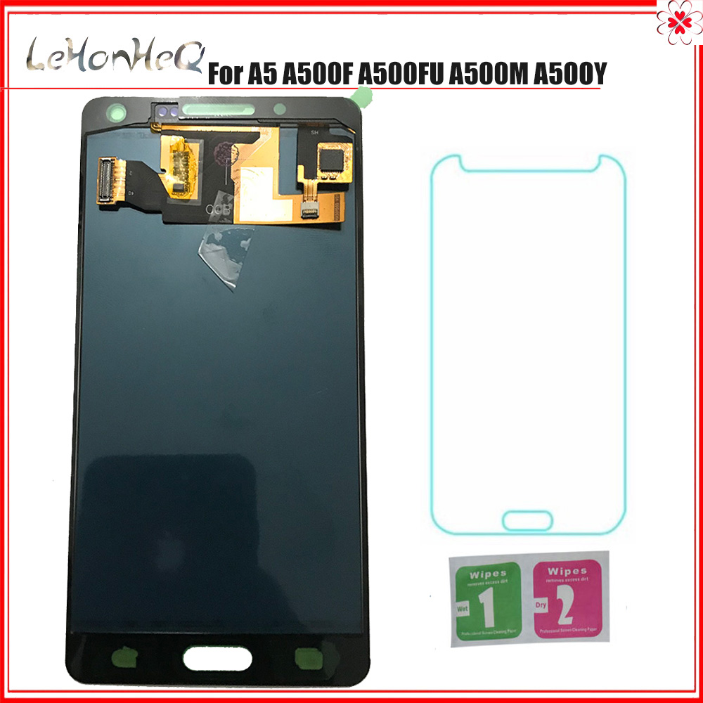 For Samsung Galaxy A5 A500 A500F A500FU A500M A500Y A500YZ LCD Display Touch Screen Digitizer Assembly For Samsung A500 TFT LCD