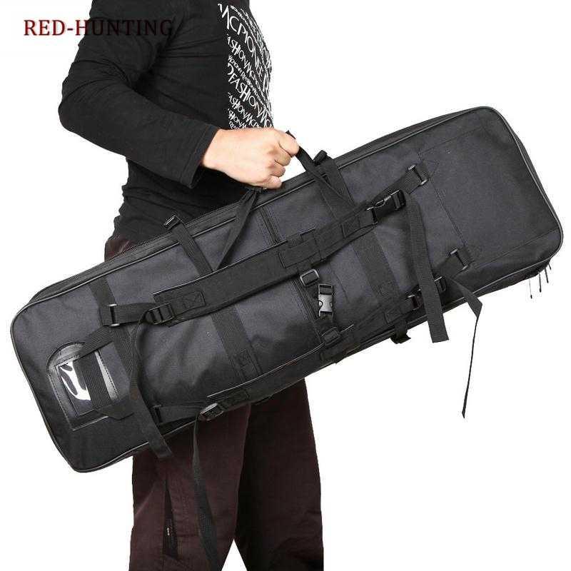 """100 см 39 """"рюкзак двойной тактический винтовка ручной ящик для переноски Охота прочный пистолет сумка рюкзак зеленый черный песок"""