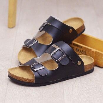 Été hommes sandales Split hommes plage sandales marque mâle décontracté plat chaussures décontracté plage chaussures marche tongs