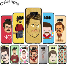 Ron Swanson Soft Phone Cover Case for Samsung Galaxy M10 20 30 S6 7 Edge S8 9 10 Plus S10E Note 8 9(China)