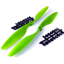 "F02142 JMT 10″ X 4.5 "" 1045+1045R Props Propeller Green For RC 4-axle X-axle KK MK Quadcopter Aircraft UFO"