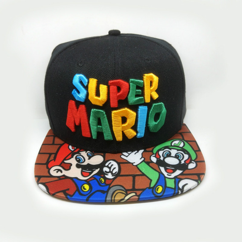 Super Mario Hats Mario Printing Baseball Caps Cospaly Cartoon Adult Casual Summer Sun Hats Hip Hop Caps
