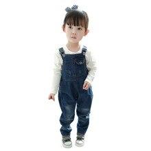 2017 Baby Girls Boys Denim Overalls Fashion Kids Children Casual Pants Jumpsuit Clothes 2-7Y