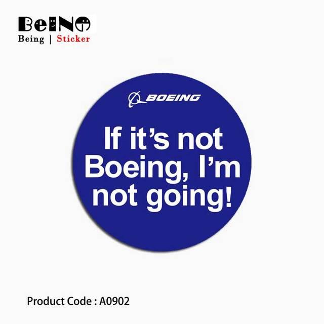 Boeing Hàng Không Vũ Trụ Máy Bay Sticker Dấu Hiệu Biểu Tượng Va Li Không Thấm Nước Máy Tính Xách Tay Đàn Guitar Hành Lý Skateboard Đồ Chơi Đáng Yêu A0902 Dán QY48