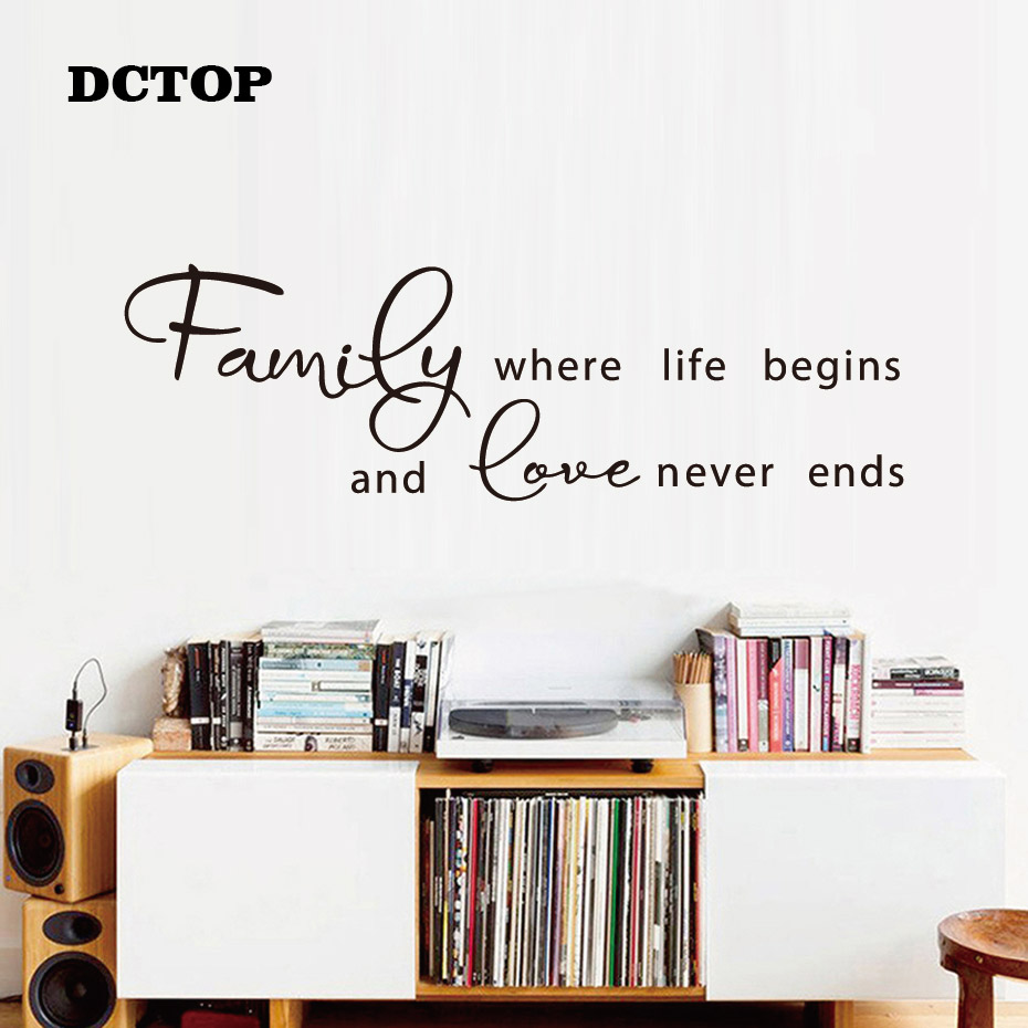 """HOME WHERE STORY BEGINS Wall Art Decal Home Decor 36/"""""""