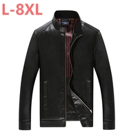 10XL 8XL 6XL 5X Motorcycle Leather Jackets Men Solid Business Casual Coats Autumn Winter Leather Clothing Bomber Jacket for Male