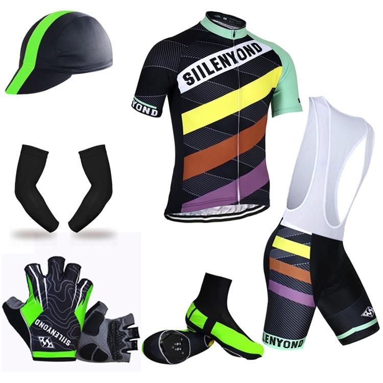 ФОТО Siilenyond Big Cycling Set ! 2017 Cycling Jersey Set Summer MTB Bicycle Clothing Ropa Ciclista MTB Bike Clothes Maillot Ciclismo