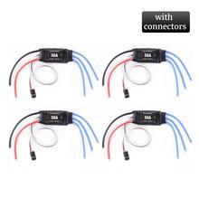4PCS 30A ESC 2 4S Lipo Brushless 30A ESC With 5V / 2A BEC For S500 X500 Quadcopter Safe poweron function Program Setting Items