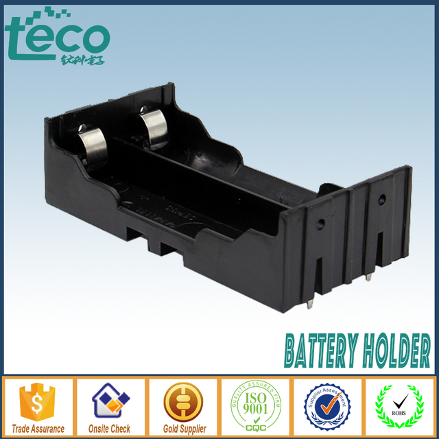 2Pcs/lot 18650 Battery Holder Storage Box With Pin  for 2 * 18650 (3.7V-7.4V)  Lithium Battery TBH-18650-2A-P
