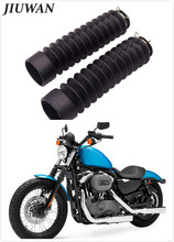 2Pcs/set Car-Styling Black Universal Motorcycle Rubber Front Fork Cover Shock Absorber Gaiters Gators Boots Dust Case стоимость