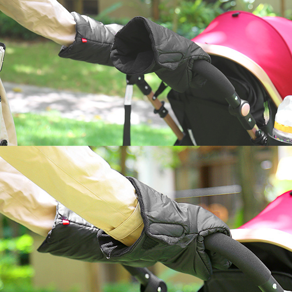Winter Pram Hand Muff Baby Carriage Pushchair Warm Fur Fleece Hand Cover Buggy Clutch Cart Muff Glove Stroller Accessories