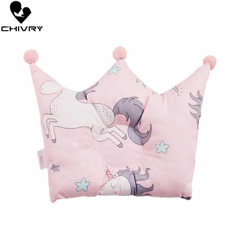 ทารกแรกเกิด Shaping หมอนเด็กการ์ตูนยูนิคอร์นรูปแบบหมอน Sleeping Support ป้องกันหัวเบาะ Crown รูปร่างหมอนทารก
