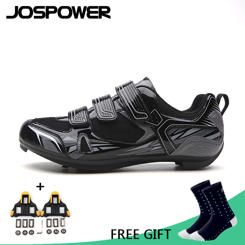 JOSPOWER Men Cycling Shoes Breathable MTB Road Bike Shoes Self-Locking Racing Athletic Bicycle Shoes Zapatillas Ciclismo все цены