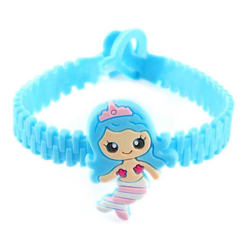 Nueva moda niños niñas encantadora sirena princesa silicona pulsera deportes pulsera encanto cumpleaños fiesta regalo