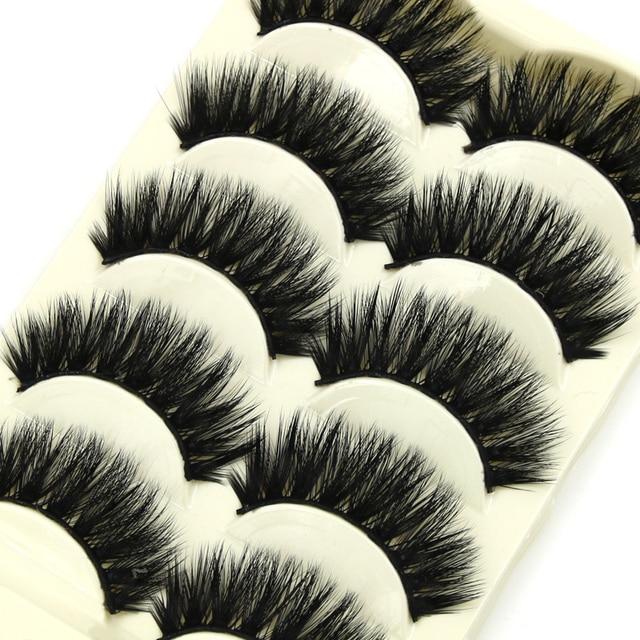 163688fe369 YOKPN Thick Mink False Eyelashes Handmade Cotton Trunks Soft Cross Natural Fake  Eyelashes Fashion Make-up Tools Mink Eye Lashes