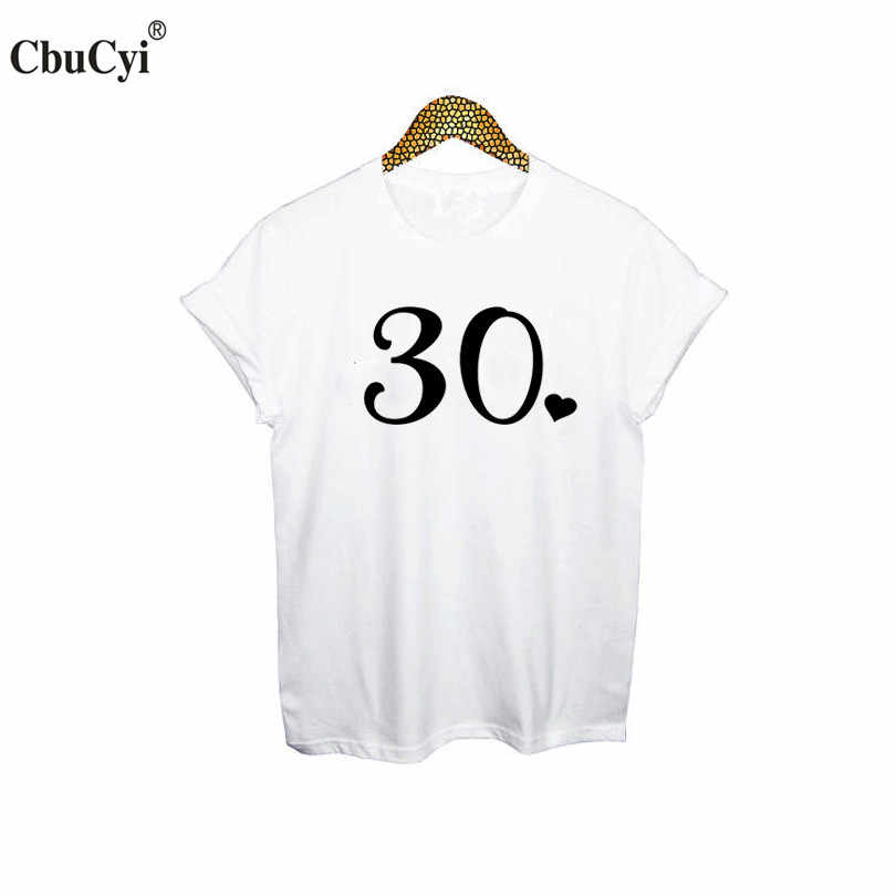 f8e7b472a Thirty T Shirt 30th Birthday TShirt Cute 30th with Heart Women t-shirt  White Black