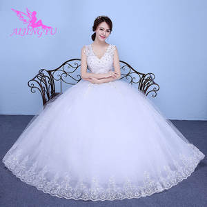 dc619873fc AIJINGYU 2018 white free shipping new hot selling cheap ball gown lace up  back formal bride dresses wedding dress WK149