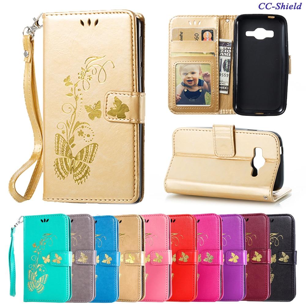 Flip Case for Samsung Galaxy J1 J 1 mini Prime J106H J106F SM-J106h SM-J106F J106F/DS SM-J106F/DS Butterfly Phone Leather Cover