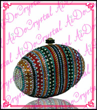 Aidocrystal egg shape Purse Pearl Handbags with Chain